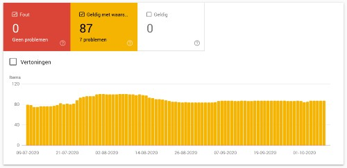 Fouten van rich snippets controleren in Google Search Console